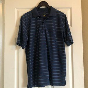 Greg Norman Striped Golf Polo